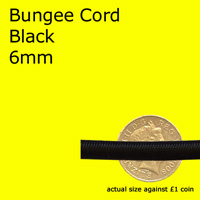 black bungee cord